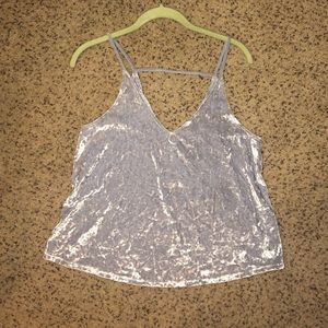 Crushed velvet tank top, worn once!